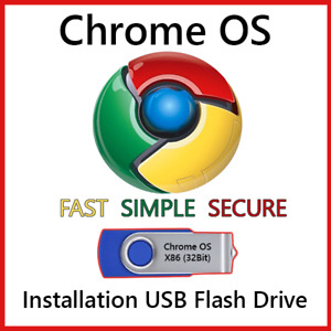 Chrome OS USB Flash Drive 32/64 Bit Install Repair Recover PC Live Boot