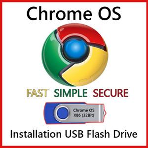 Chrome OS USB Flash Drive 32/64 Bit Install Repair Recover PC Live Boot