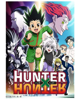 Hunter Anime Art Silk Fabric Poster Print, Wall Pictures For Home Decor, Unframe