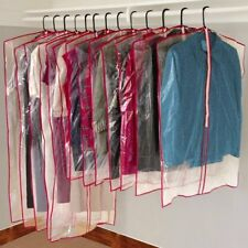 13 Clear Garment Covers Zippered Hanging Bags Suit Dress Travel Storage W/ New