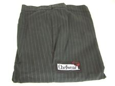 Chef Wear 3170 Women'S Tailored Pant Blk/White Stripe Cook Restaurant Size 4X