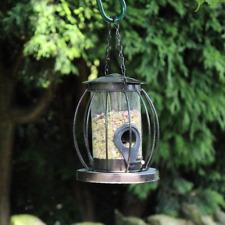 Mini Caged Seed Bird Feeder Metal Wire Outdoor Garden Patio Feeding Station