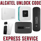 ALCATEL MODEM/ROUTER SIM NETWORK UNLOCK CODE 100%SAFE & ACCURATE (10 Digit CODE)
