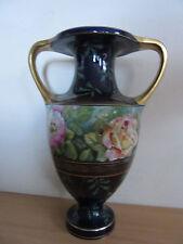 "Antique Ernst Wahliss Turn Vienna Austrian 14.5"" Double Handle Hand Painted Vase"