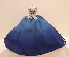 DRESS MATTEL BARBIE DOLL 2016 HOLIDAY MODEL MUSE BLUE STAR BODICE EVENING GOWN