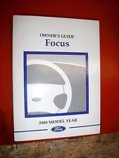2000 FORD FOCUS ORIGINAL FACTORY OPERATORS OWNERS MANUAL GUIDE