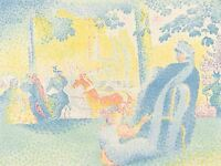 HENRI EDMOND CROSS FRENCH LES CHAMPS ELYSEES OLD ART PAINTING POSTER BB5609A