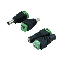 12V Male + Female 2.1x5.5mm DC Power Plug Jack Adapter Connector New-,