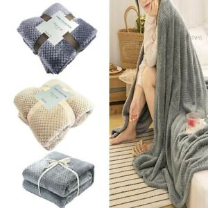 New Soft Faux Fur Blanket Flannel Aircraft Fleece Mesh Car Travel Cover Blankets