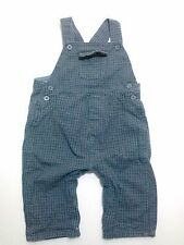 FAO Schwarz Overall Pants Designer Baby Boy's 9 months 17-21 lbs Plaid Gray