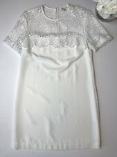 WAYF Nordstrom Woman's White Crochet Shoulder Shift Dress Size S
