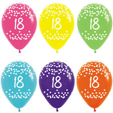 18th Birthday Latex Balloons Pack of 25