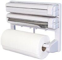 Multi Purpose Triple Roll Dispenser Foil Cling Film Paper Kitchen Roll Holder