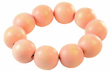 Ball Statement Fashion Bracelet (Zx2) Ladies Funky Tribal Inspired Baby Pink