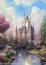 3X5ft Fairy Tale Castle Vinyl Studio Backdrop Photography Background Photo DB759