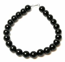 Perla De Gran Tamaño Gigante Grande 18mm Negro Perla Collar Babero Vintage Gran Gatsby