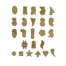 Walnut Hollow Hotstamps Number and Symbol 24 Piece Set for Branding and on Wood