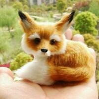 Realistic Stuffed Animal Soft Plush Kids Toy Sitting 9*7*8cm Home Xmas Decor