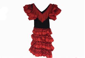 NEW Girls Kids Flamenco Spanish Dancer Fancy Dress Costume * Various Size/Colour