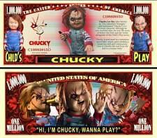 CHUCKY ! Billet 1 MILLION DOLLAR US ! Série Film Horreur Fantastique Poupée Doll