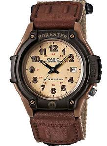 Casio FT500WC-5BV, Forester, Illuminator Watch, Beige Strap, Date, 100 Meter WR