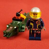 Genuine Lego Agent Charge with Alligator Ultra Agents Minifigure