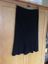 Wool Blend Business A-line Regular Size Skirts for Women