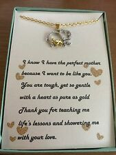 Mother and Child Elephant Pendant Necklace with poem for a mother