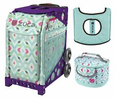 Zuca Sport Bag - Chevron with Gift Lunchbox and Seat Cover (Purple Frame)