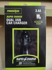 POWERXCEL Rapid Charge Dual USB Car Charger (Black)