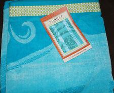 "SONOMA Outdoors Velour Beach Towel ""Blue Dolphins""100% Cotton 34""x64"" NWT $29.99"