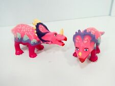 Dinosaur Train Stacie & Stephie Triceratops Pink Figure Henson's Learning Curve