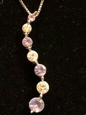 Journey Diamond and Tanzanite Necklace
