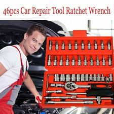 """46pc 1/4"""" Car Repair Tool Set Mixed Tools Screwdriver Sets Wrenches Ratchets Kit"""