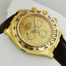 Rolex Cosmograph Daytona Yellow Gold 116518 Champagne Dial Retail: $25,150