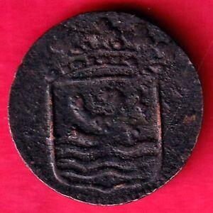 DUTCH EAST INDIA COMPANY 1753 VOC DUIT SCARCE COPPER COIN #KO27