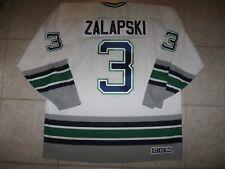 #3 Zarley ZALAPSKI Hartford WHALERS OFF. LIC. CCM Jersey, Size Men's XL, NWT!