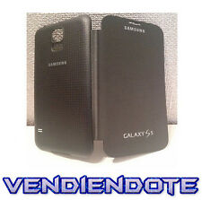 Funda Flip Cover Tapa Libro para Samsung Galaxy S5 SV i9600 G900F Negro Negra