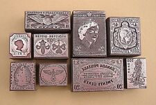 """POSTAGE STAMPS OF THE WORLD"" (Set 4) Printing Blocks."