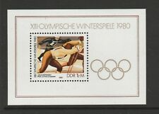 East Germany (DDR) 1980 Olympic Winter Games mini sheet SG MSE2192 MNH