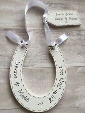 PERSONALISED Lucky Horseshoe ~ Bride Wedding Keepsake Present with FREE Gift Tag
