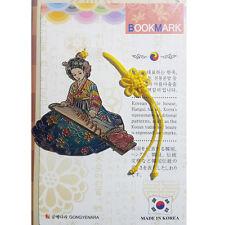 Beauty elegant Traditional Korean Metal Bookmark Woman Hanbok Book Mark No.24