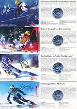 Österreich 5 Euro 2005 Silber 100 Jahre Skisport 4x Miniblister