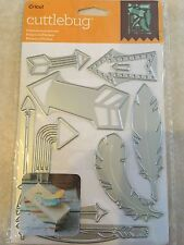 Cricut Cuttlebug Cut & Emboss Die Set - FEATHERS AND ARROWS NEW