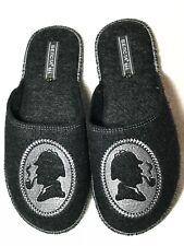 Belsta Warm black Felt Slip-On Design Soft Sole Slippers, Indoor Men