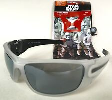 Star Wars™ Storm Troopers Men's Sport Wrap Sunglasses & Carrying Pouch White NEW