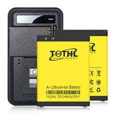 2x 3300mAh battery+home Charger For LG Stylo 2 Plus K550 MS550 Phone