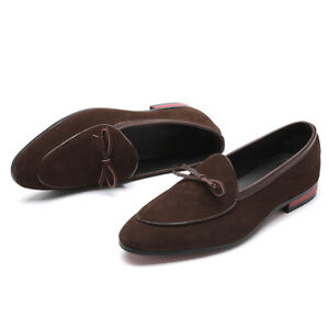 US5-13 Mens Pointed toe Suede Slip on Loafer Boat Shoes Driving Moccasin Gommino