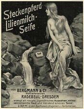 Steckenpferd lilly milk soap 1905 ad nymph advertising female nude mermaid well