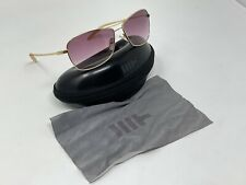 Mosley Tribes Aviatrix(60) Gold Tone Sunglasses Rose Lenses Excellent Condition